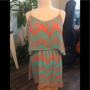 Freebird sundress in mint and coral